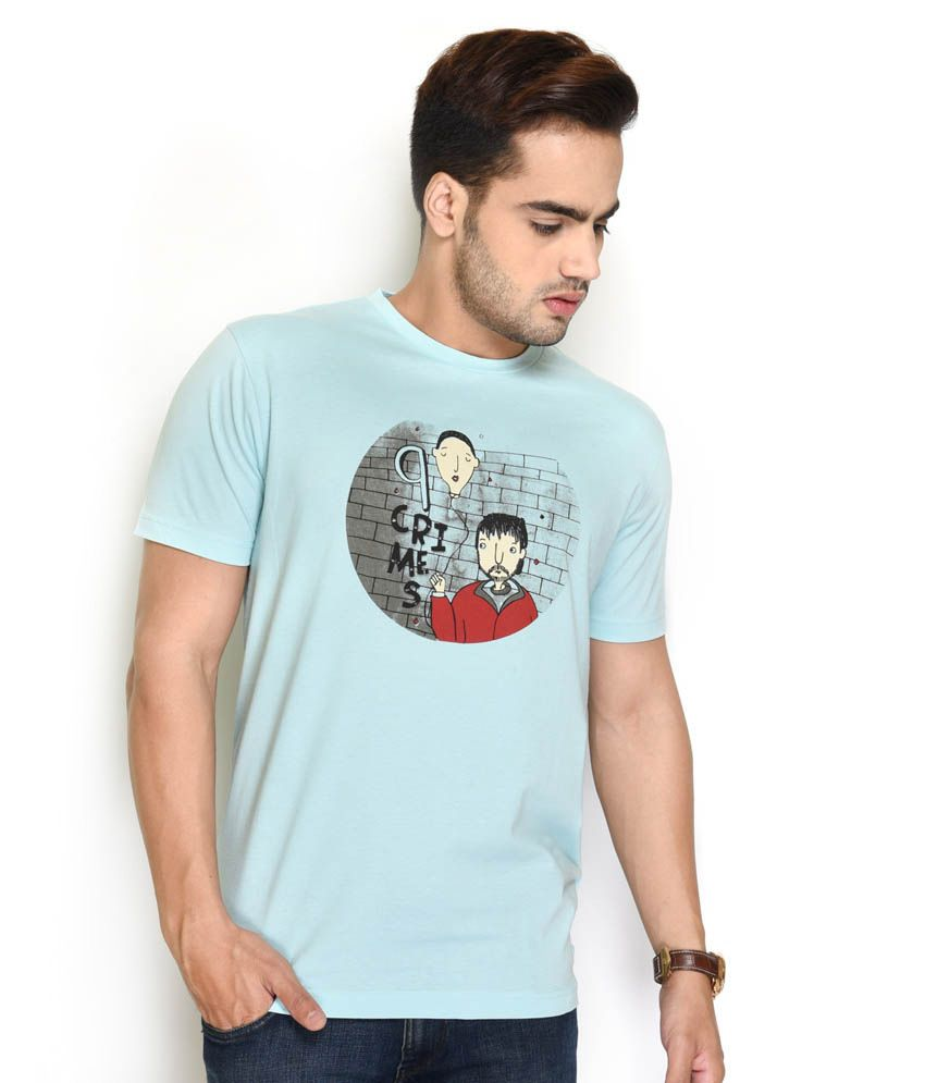 The Glu Affair Blue Cotton T-Shirt