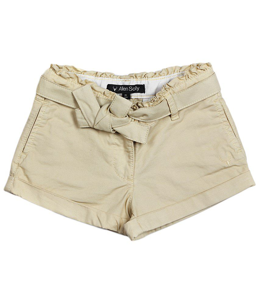 Allen Solly Beige Cotton Shorts