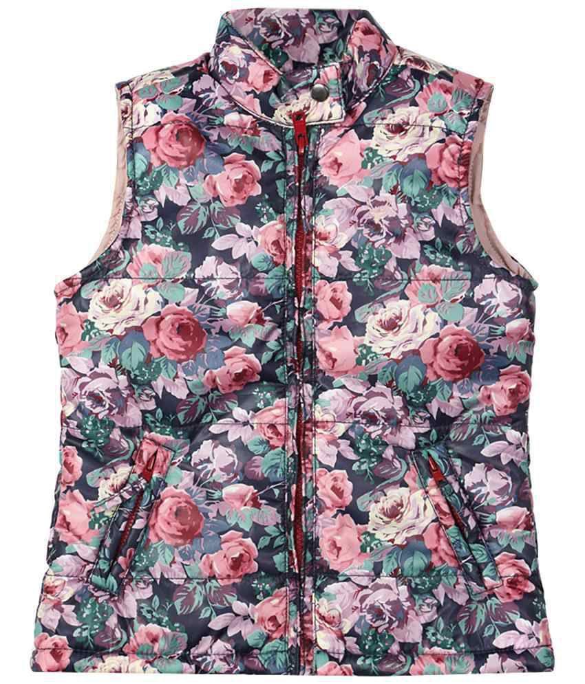 Allen Solly Multicoloured Sleeveless Jacket