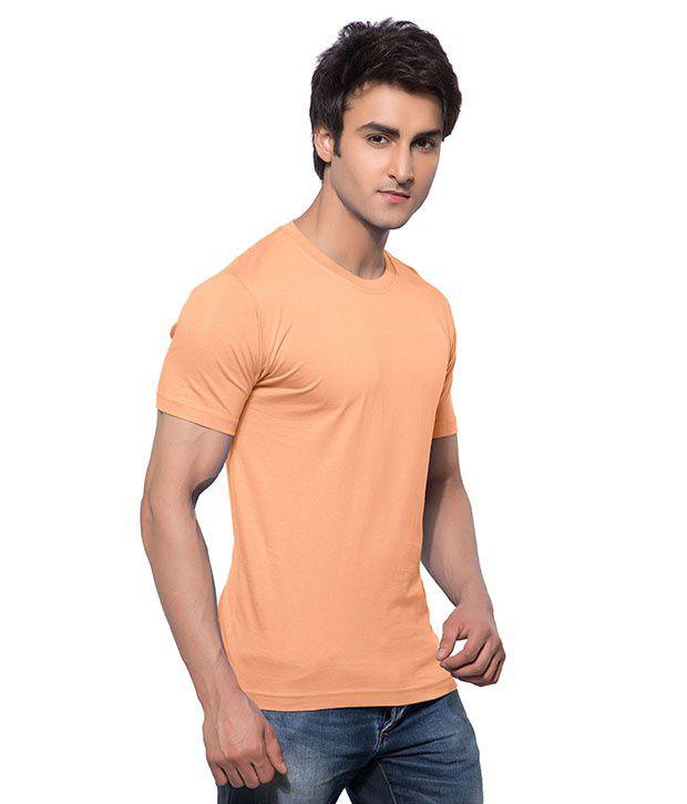 Calix Orange Cotton T-Shirt
