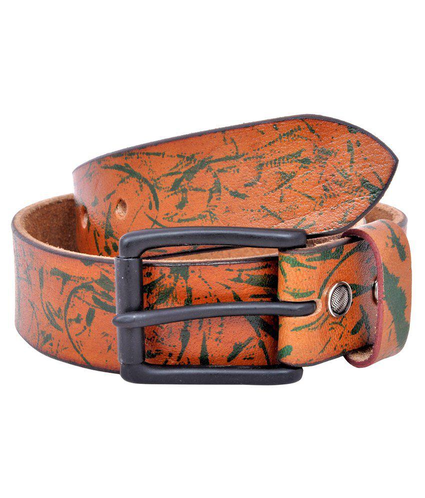 Pavni Tan Leather Belt For Men