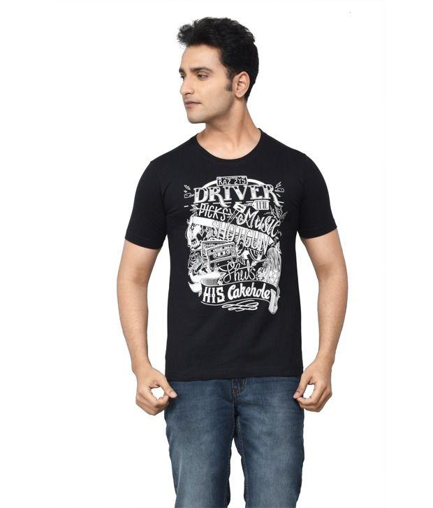 Regnum Black Cotton T-shirt