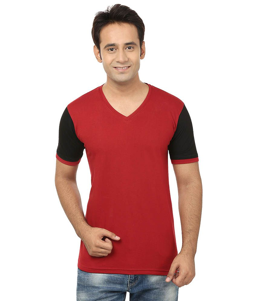 Jangoboy Maroon Cotton T-Shirt
