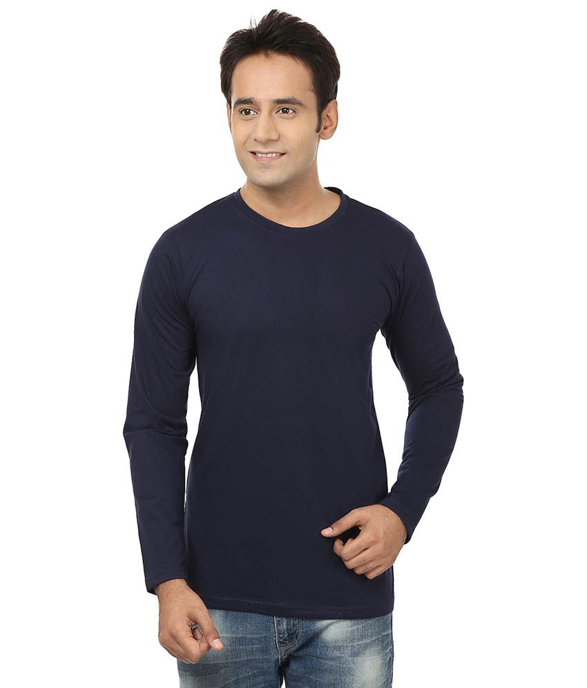 Jangoboy Navy Cotton T-Shirt