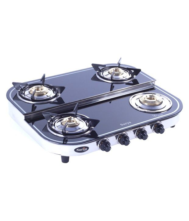 Surya Care SC-GLS-403 Step 4 Burner Gas Cooktop