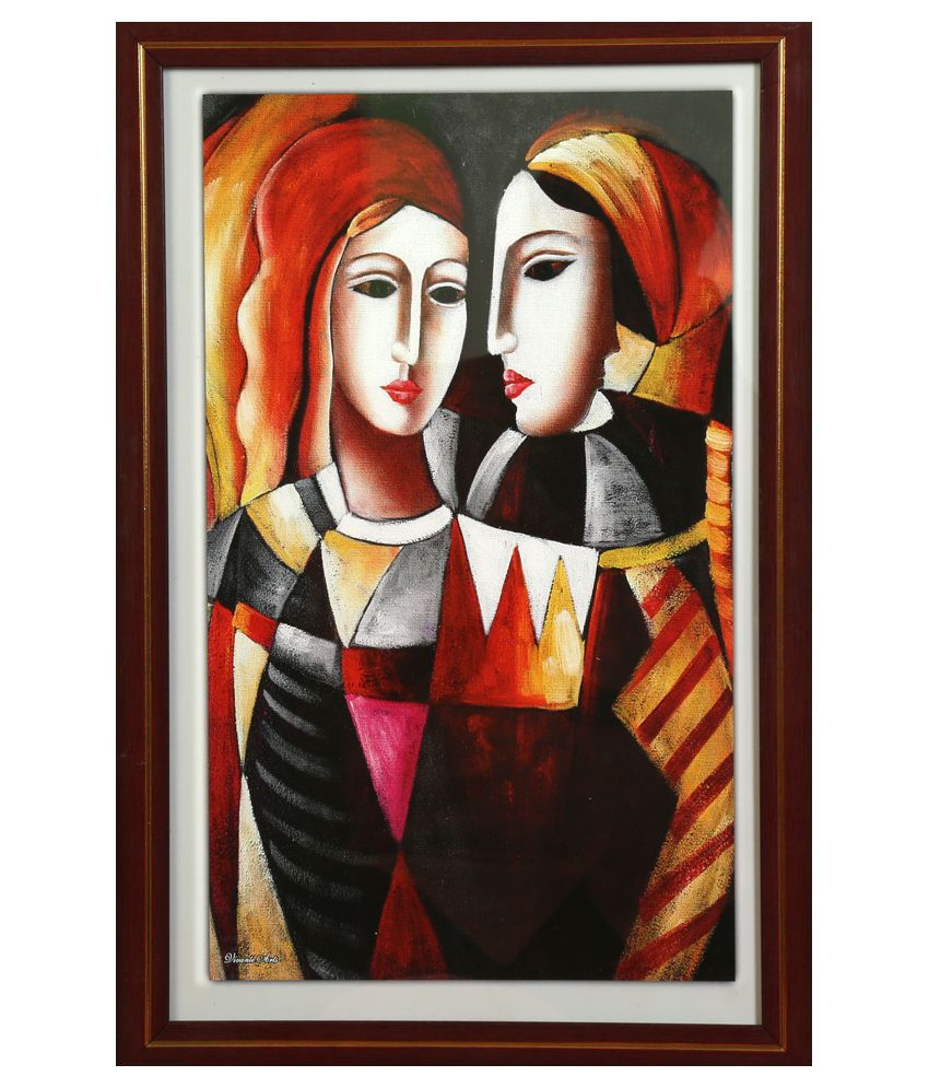 Truce Modern Art Wall Painting With Frame