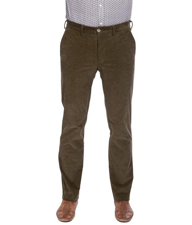 Zobello Slim Fit Stretchable Corduroy Pant
