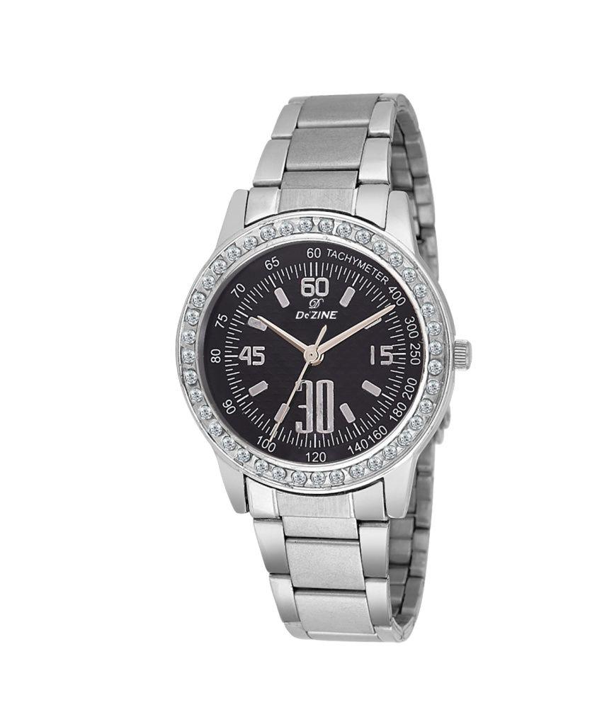 Dezine #039;s ladies analog watch DZ LR2015 BLK CH