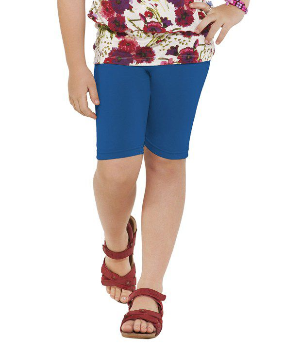 Go Colors Blue Shorts For Girls