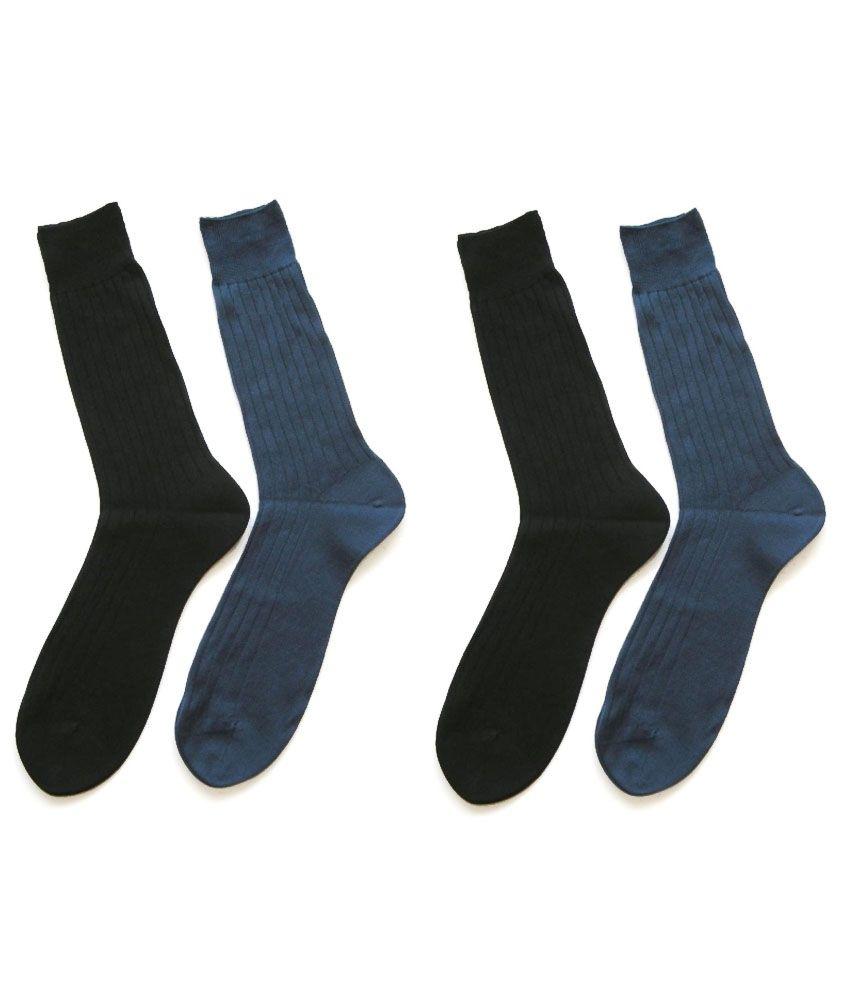 Sai Company Multicolour Formal Full Length Socks For Men 4 Pair Pack