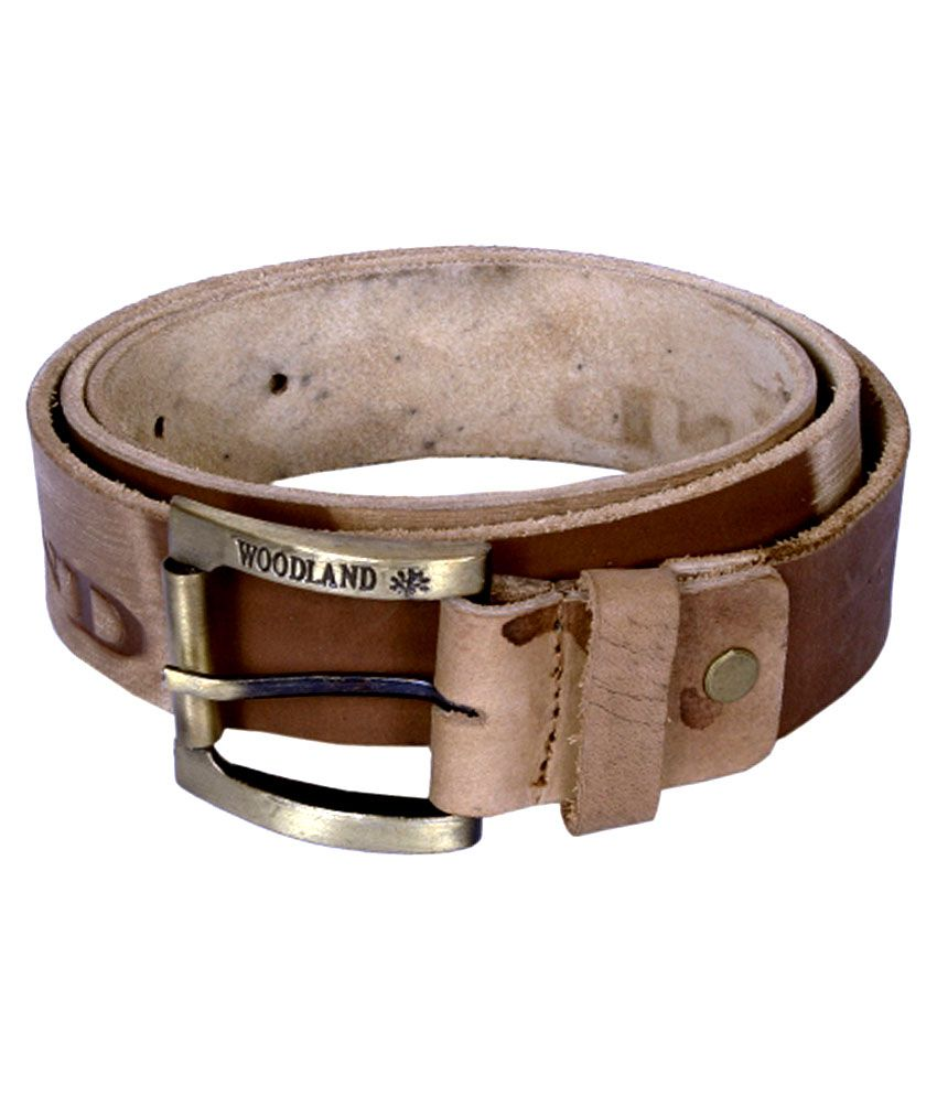 Woodland Brown Casual Single Belt For Men