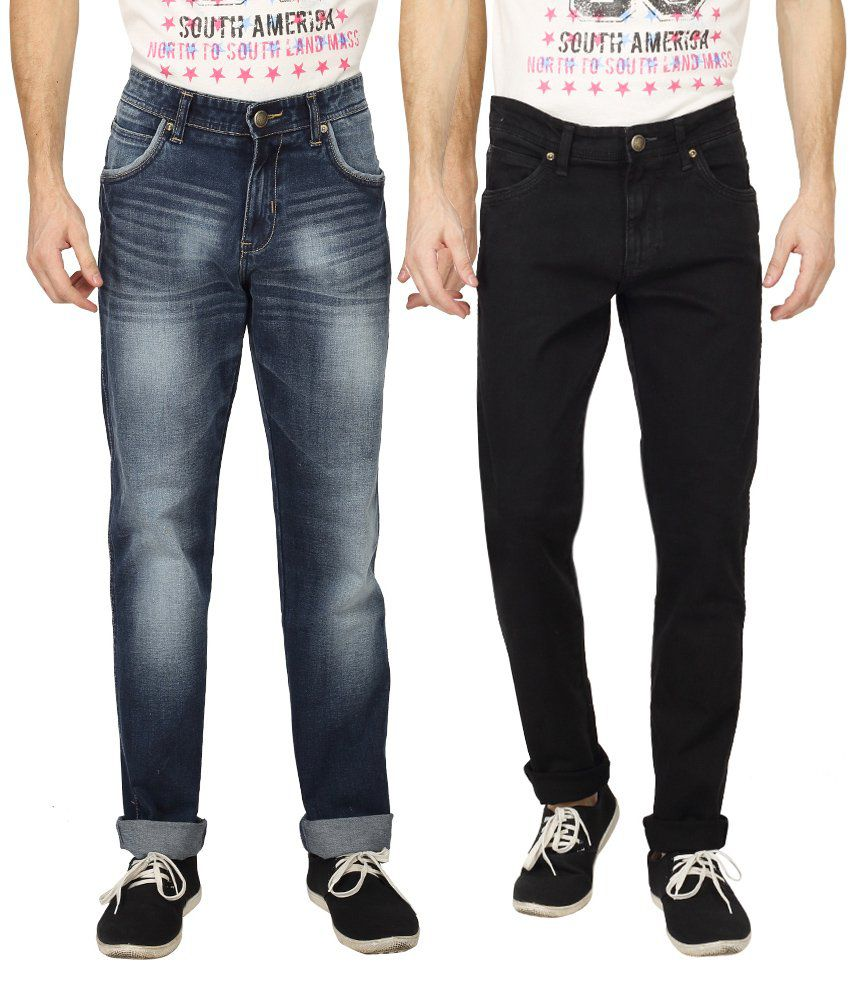 Wrangler Multicolour Slim Fit Jeans - Pack Of 2