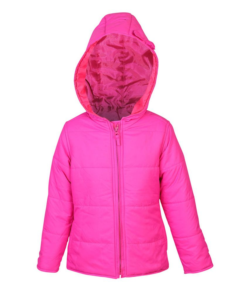 ELLO Pink Full Sleeves With Hood Jacket