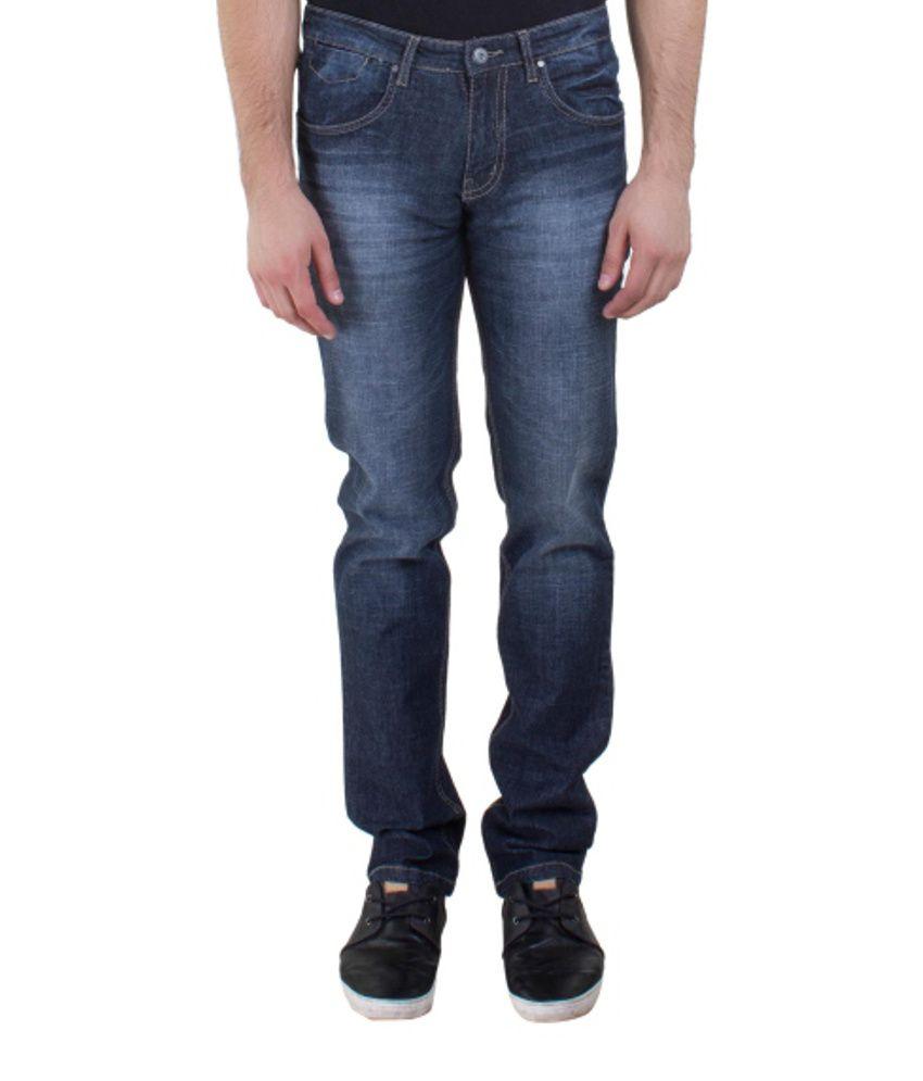 Kingswood Blue Blended Cotton Jeans