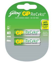 Godrej GP Recyko 2xAA 2100 MAh Ni-MH Rechargeable Battery
