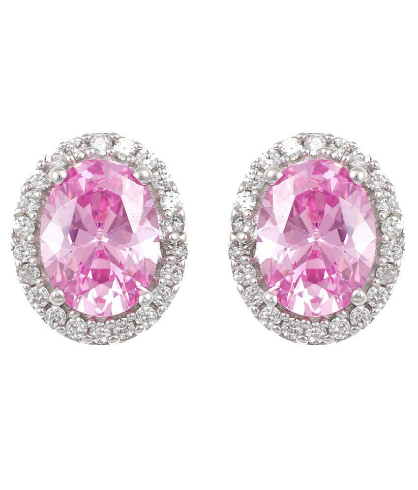 Exxotic Jewelz Silver Stud Earrings