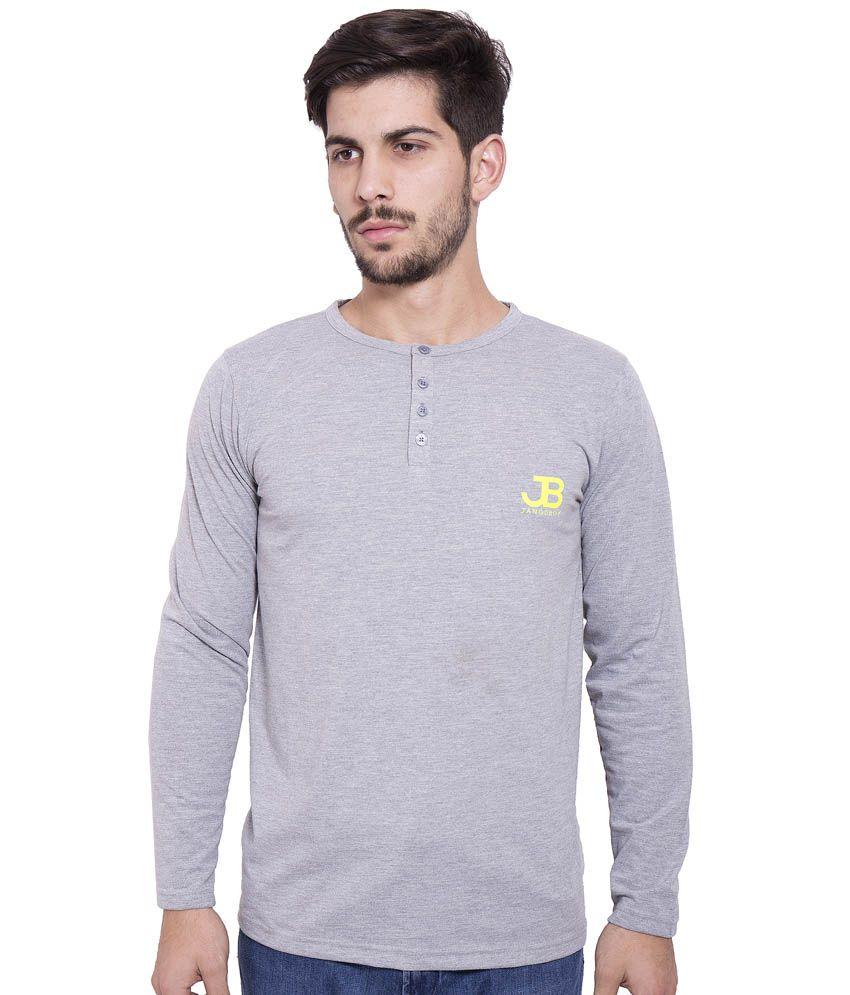Jangoboy Grey Cotton T-Shirt