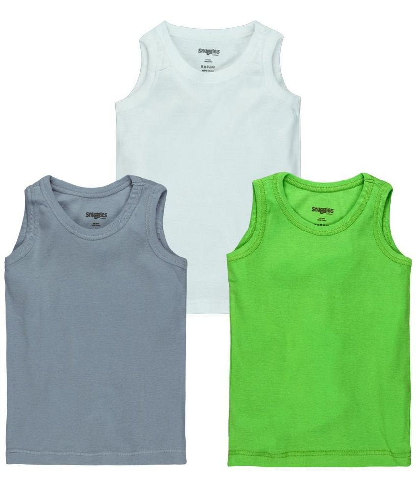 Snuggles Multicolor Cotton Tops - Pack Of 3