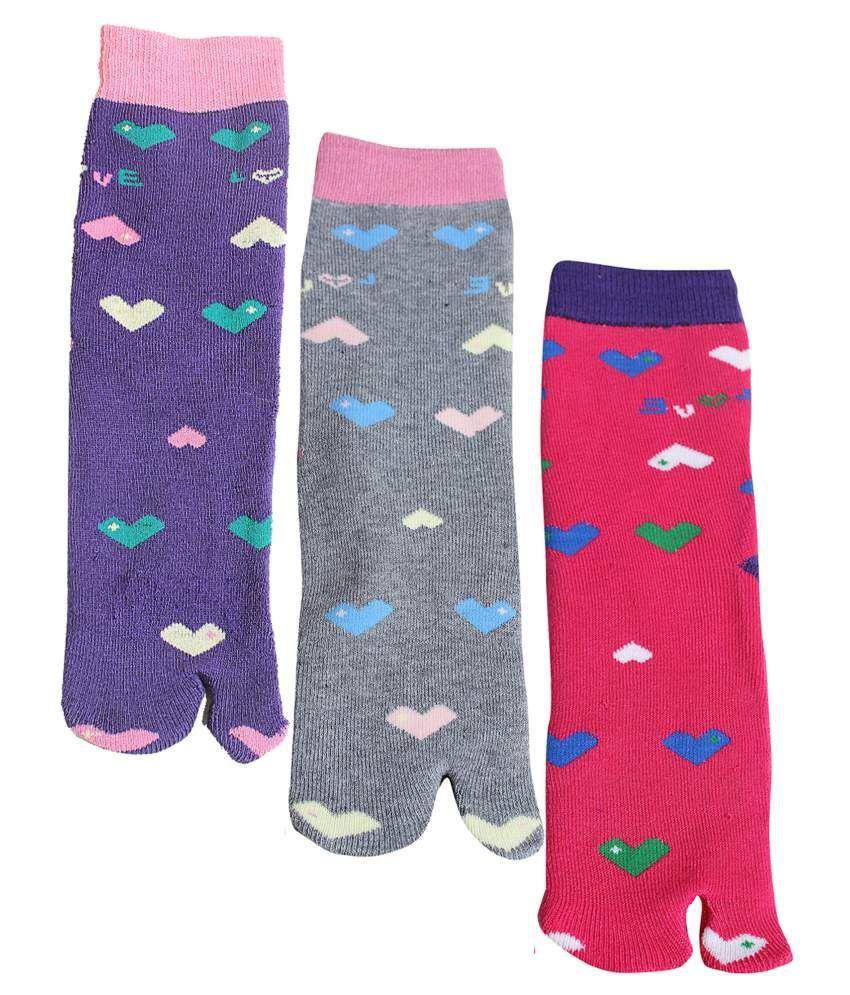 Sakhi Sang Multicolour Casual Ankle Length Sockwomen 3 Pair Pack