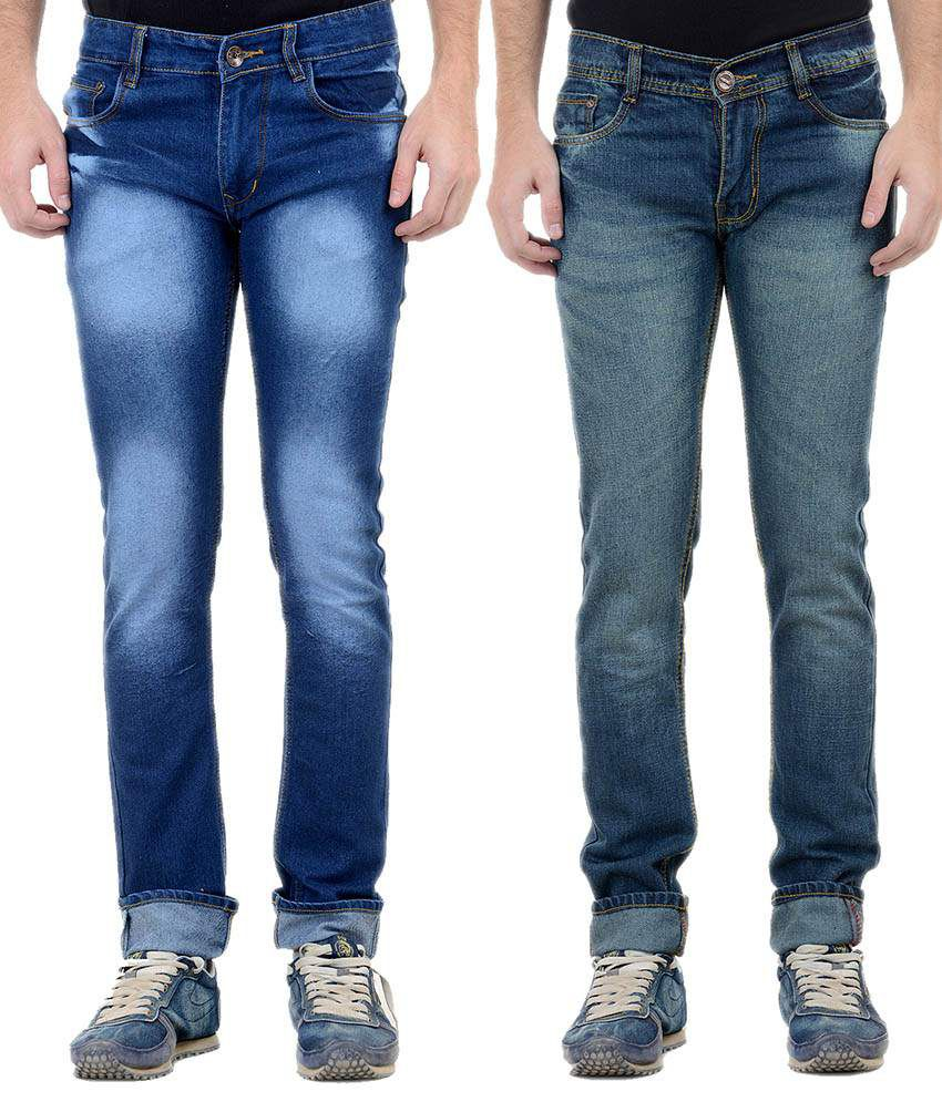 Forest Blue Slim Fit Jeans - Pack Of 2