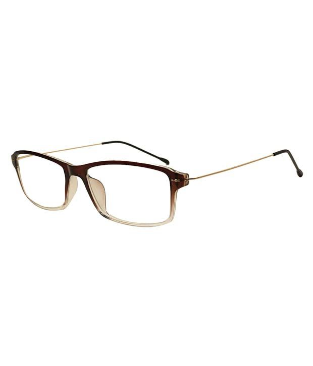 dc359fa5731 Rose Line Brown Rectangle Eyeglasses available at SnapDeal for Rs.353