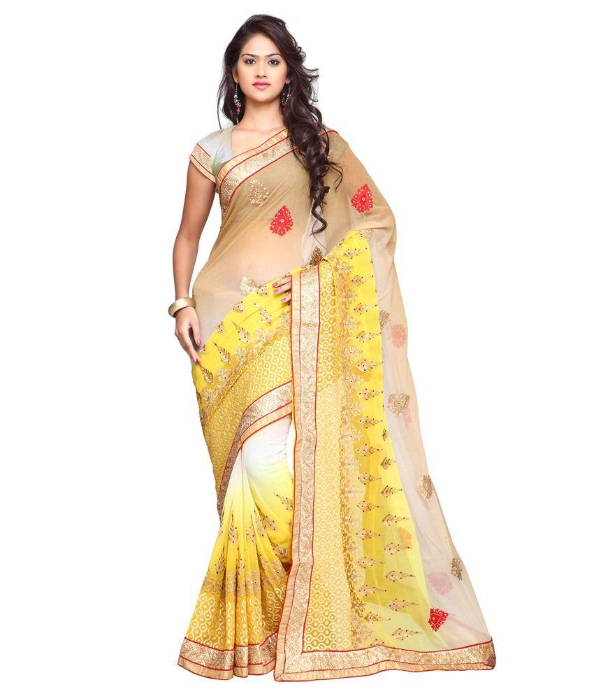 Suchi Fashion Multicolour Chiffon Saree