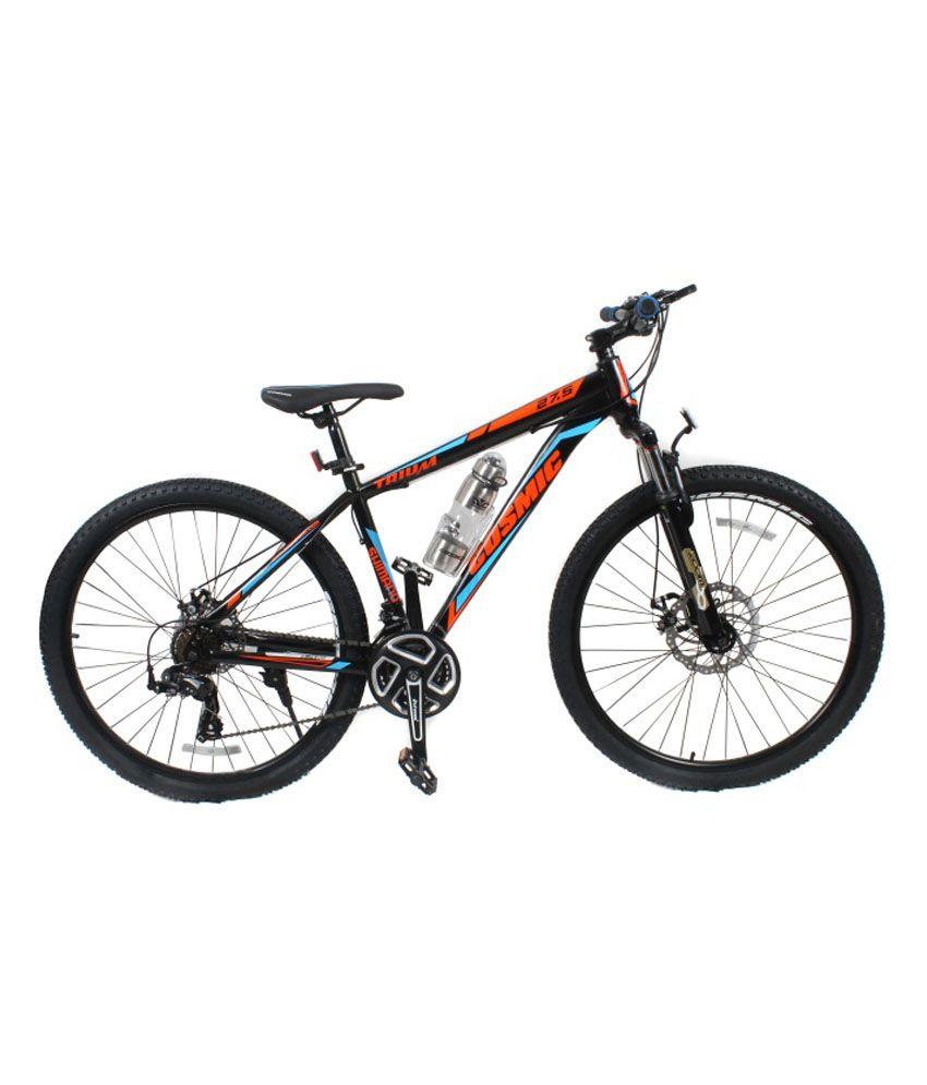 Cosmic Trium 27 5 Inch Mtb Bicycle 21 Speed Black Blue