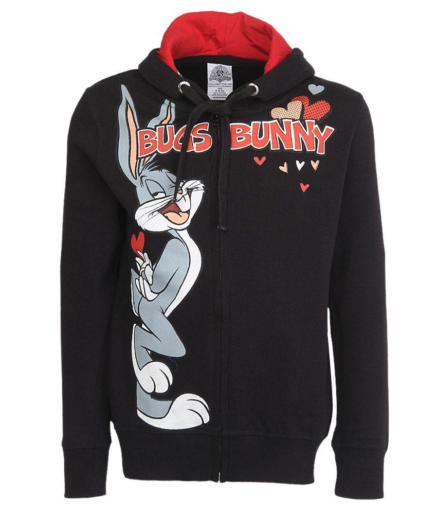 Looney Tunes Black With Hood Sweatshirt