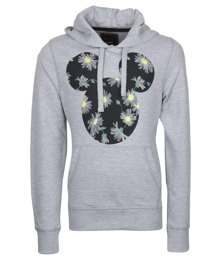 Mickey & Friends Gray With Hood Sweatshirt