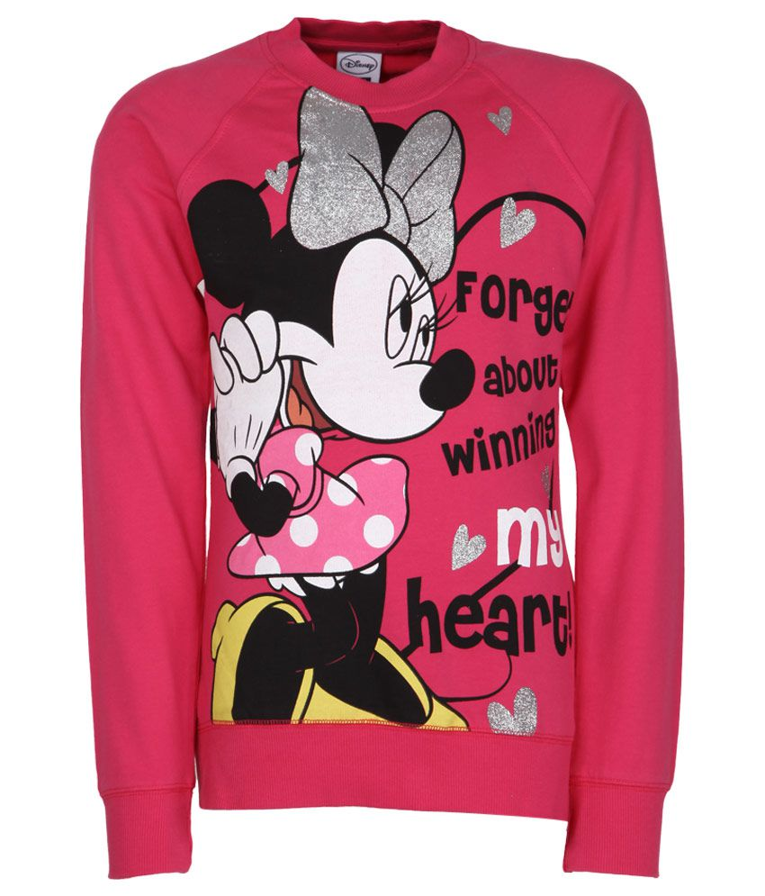 Mickey & Friends Pink Crew Neck Sweatshirt