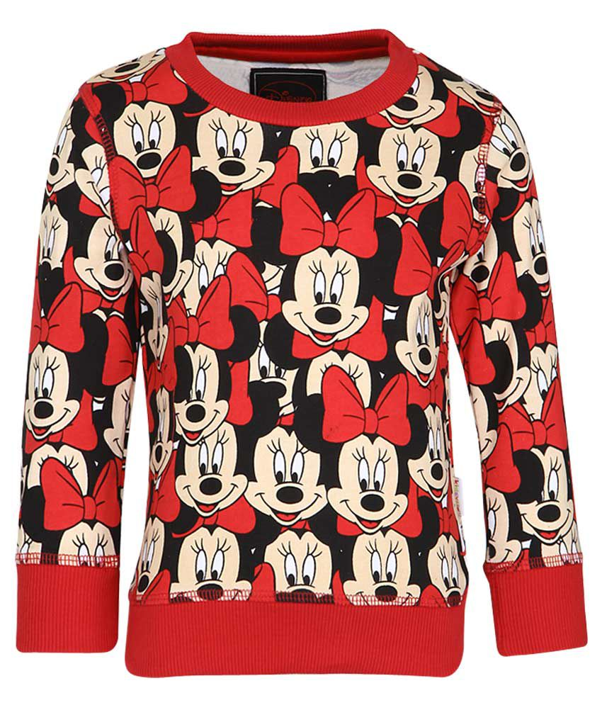 Mickey & Friends Red Crew Neck Sweatshirt