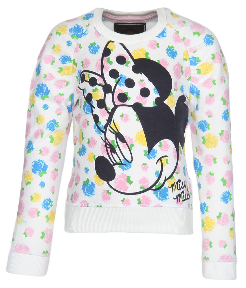Mickey & Friends Off White Crew Neck Sweatshirt