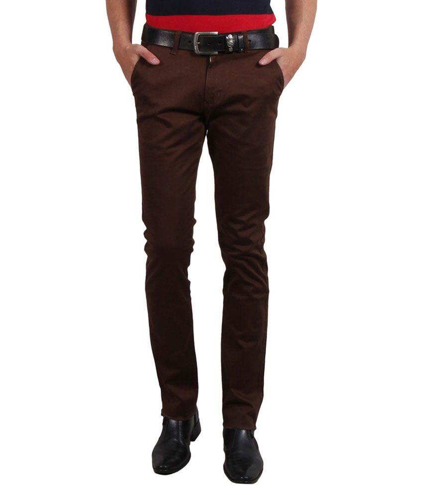 Solemio Grey Cotton Blend Slim Fit Trouser