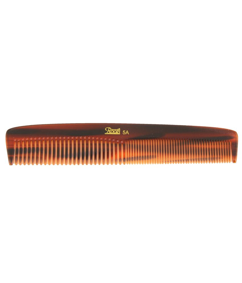 Roots Brown Dressing Comb for Medium Length Straight Hair (Pack of 5)