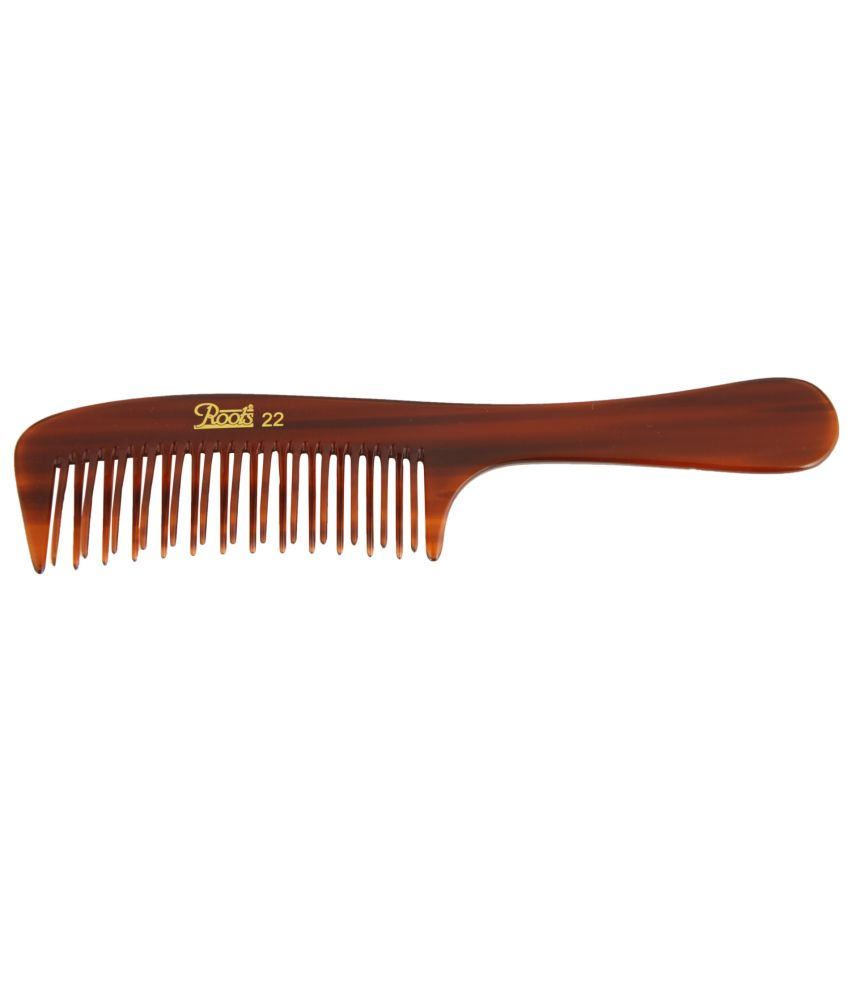 Roots Brown Wide Teeth Styling Comb for Volume (Pack of 7)