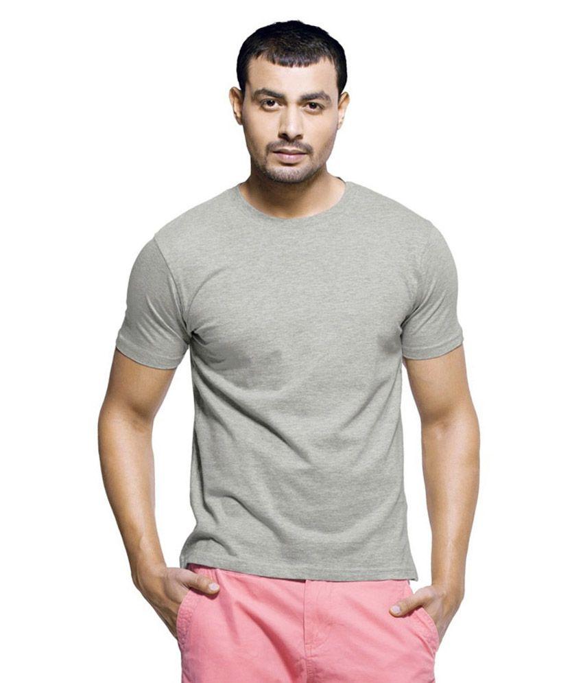 Sai Garments Grey Cotton T-Shirt - Pack of 3