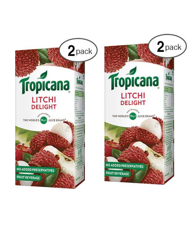 Tropicana Delight Litchi Juice 1 ltr Tetra (Pack of 2): Buy