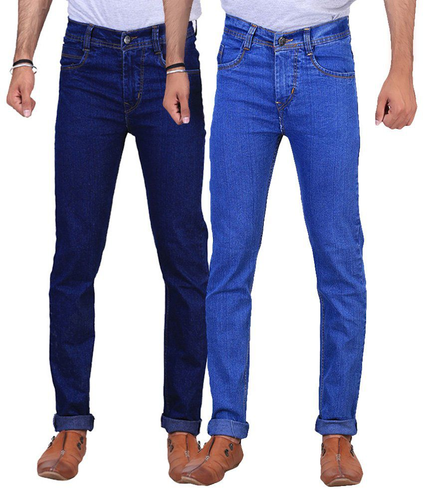 NE Blue & Navy Regular Fit Jeans Pack Of 2