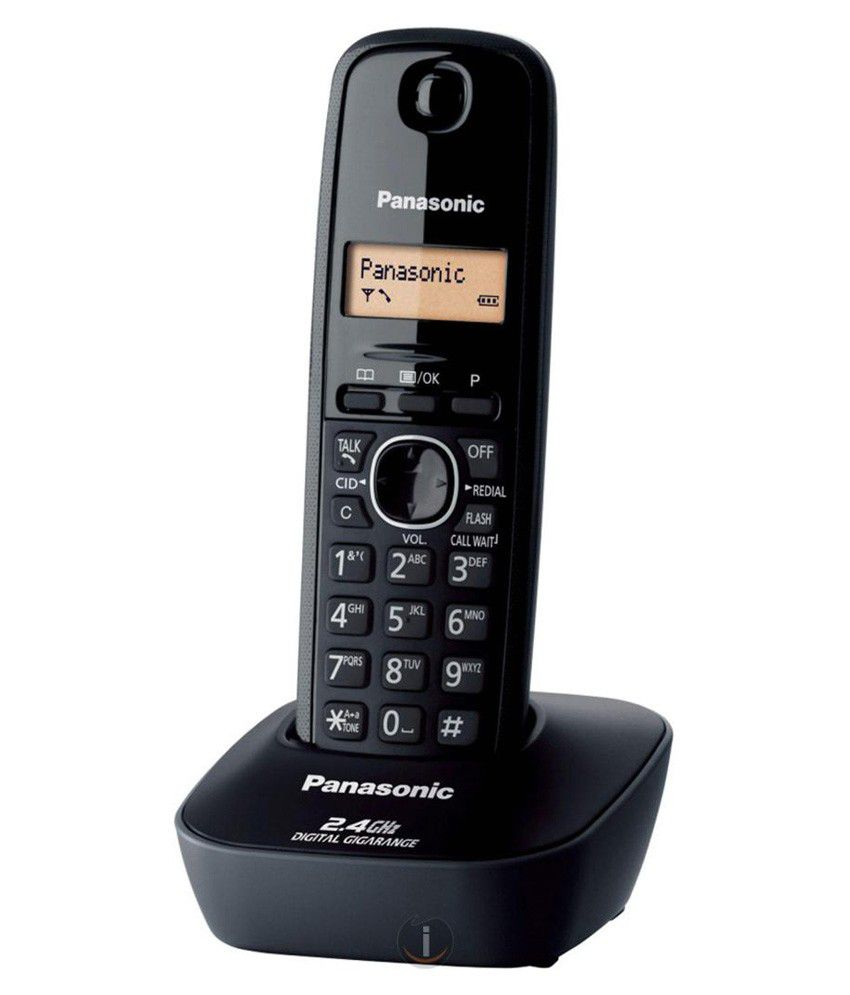 Panasonic Kx-tg3411sxh Cordless Landline Phone ( Black )