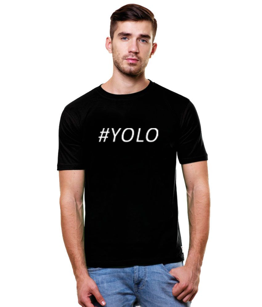 Enquotism Black Cotton T- Shirt