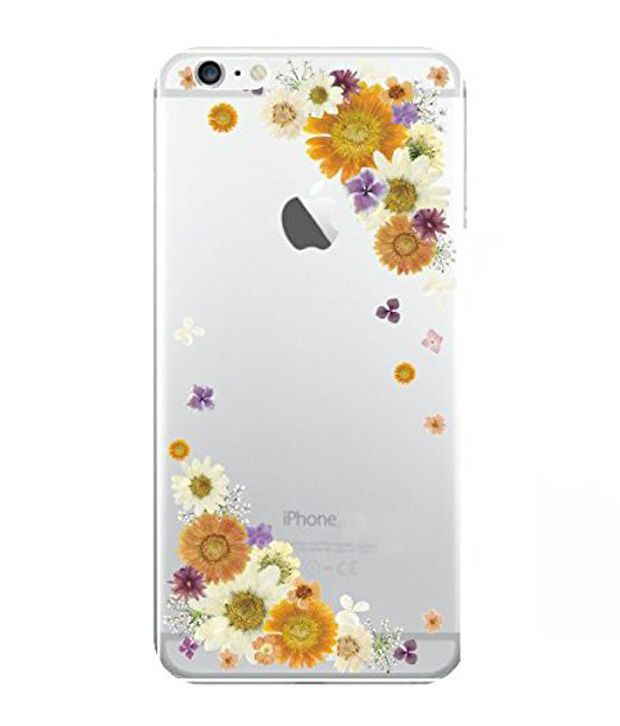 Apple iphone 6 Plus/6s Plus (Small Flower Border/Yellow & White) Printed Covers by Hamee