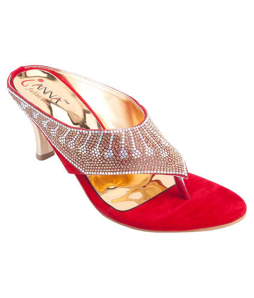 IANNA Red Kitten Heels