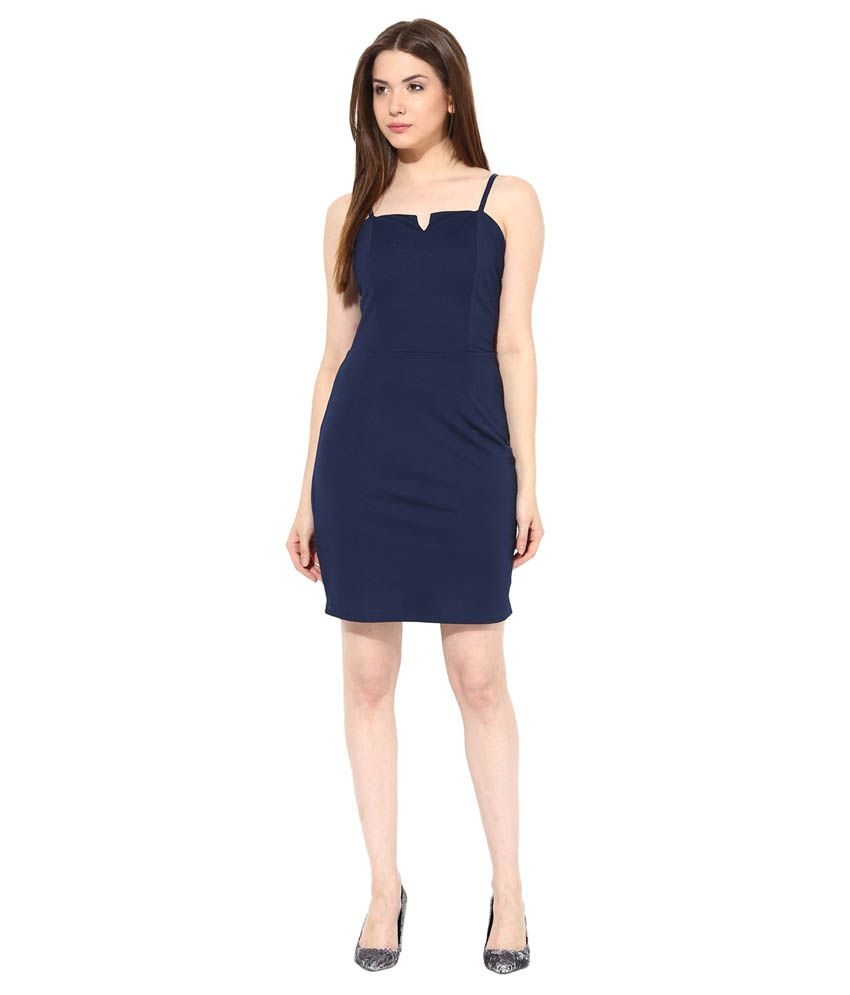 c84a6798c0a Miss Chase Navy Mini Bodycon Dresses For Women Casual Wear - Buy ...