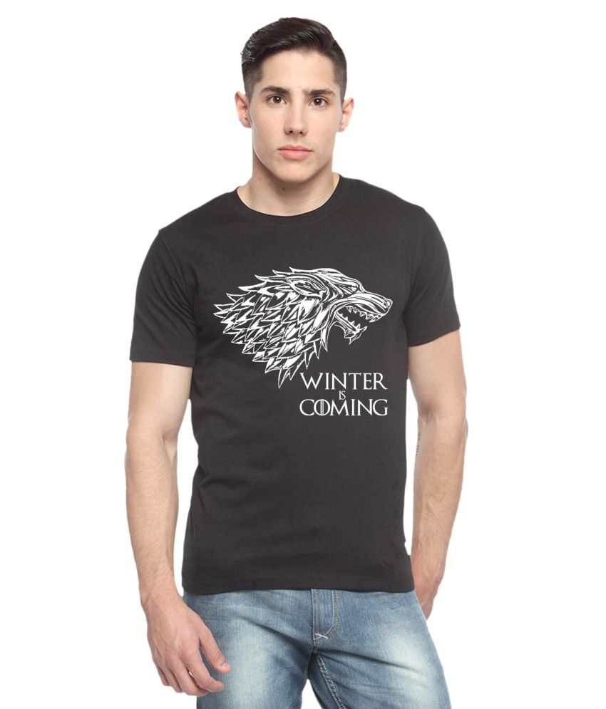 Adro Black Cotton T-shirt