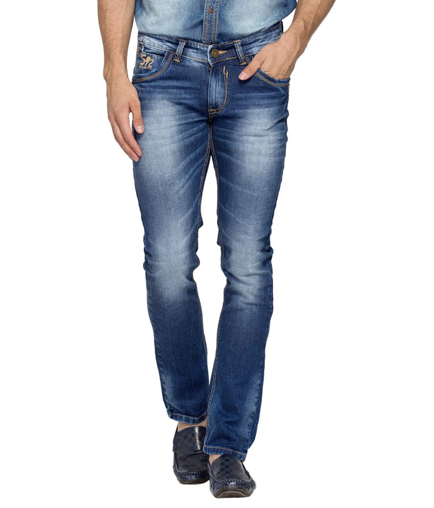 Spykar Blue Light Wash Skinny Fit Jeans