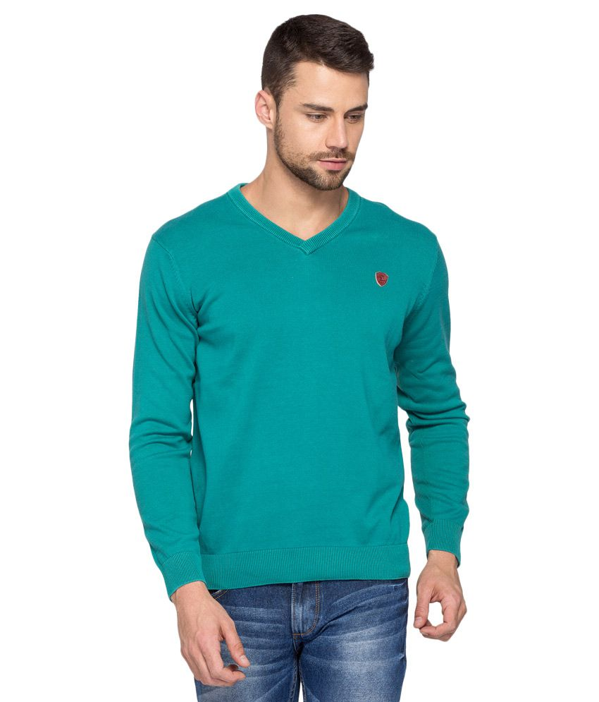 Spykar Green Full Sleeve T-Shirt