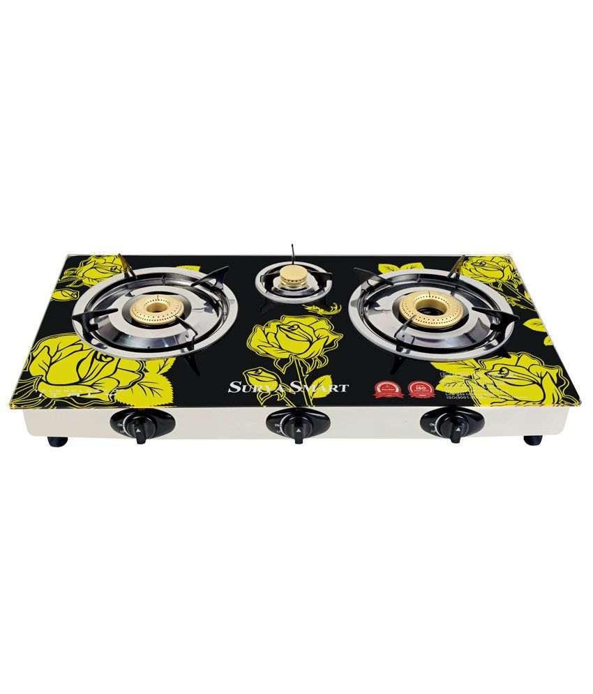 Surya Smart BE104G 3 Burner Auto Ignition Gas Cooktop
