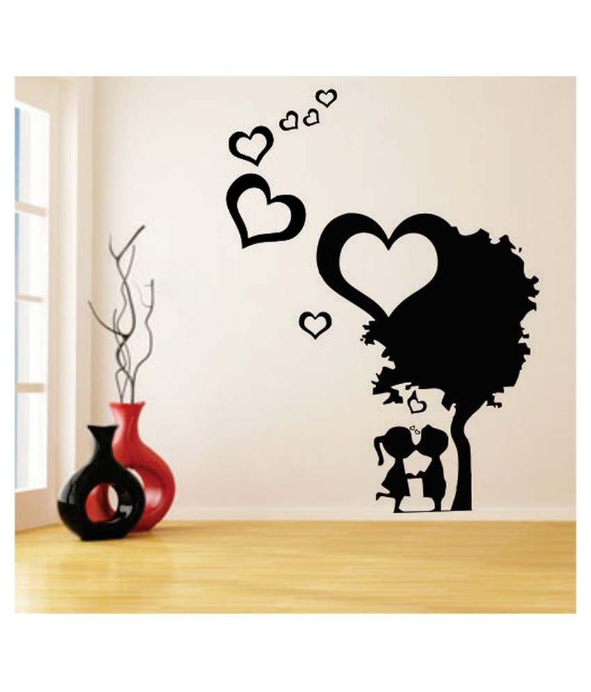 Impression Wall Cute Small Couple Love Wall Sticker Buy Impression