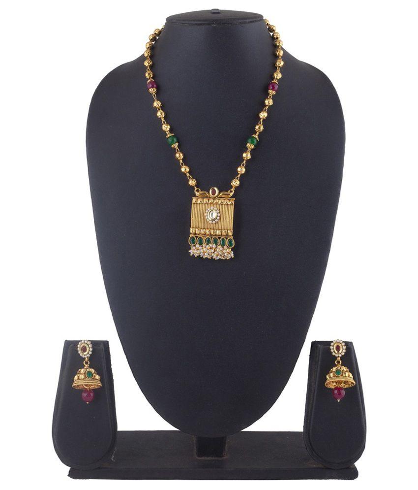 Mokanc Multicolour Copper Necklace Set