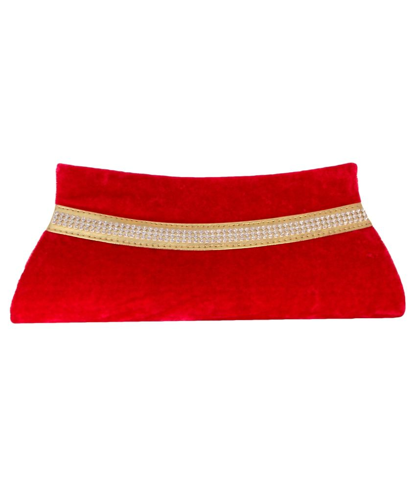 Nysap Red Velvet Clutch
